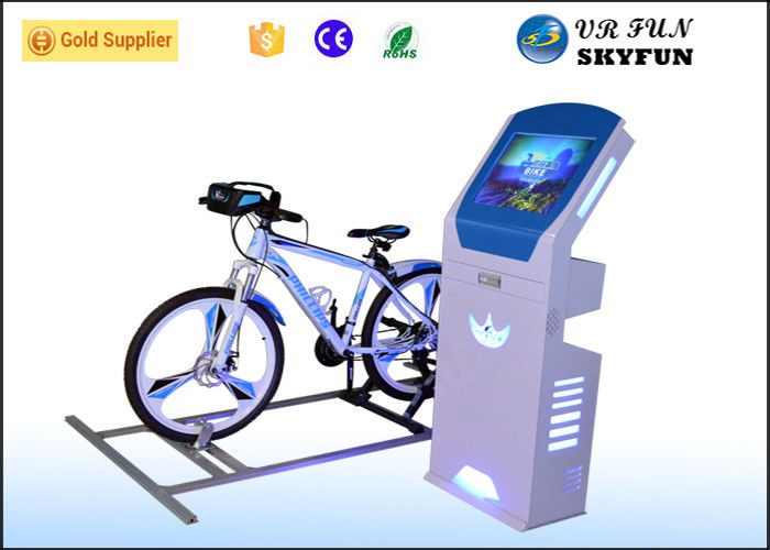 9D Virtual Reality Bike Trainer Sport Equipment Machine With Exciting 9D Track Games