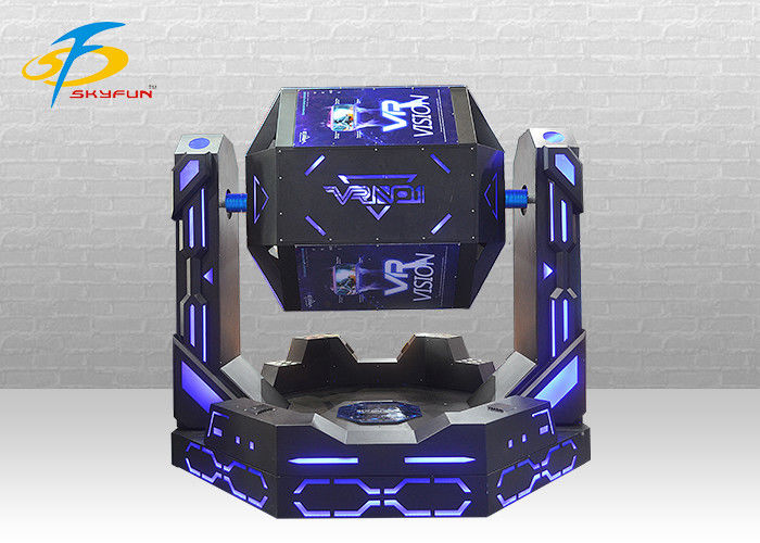 Blue 9D VR Simulator Game Machine Adult Roller Coaster Space Dynamic Platform