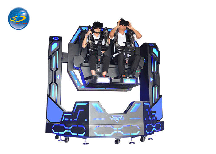 Two Seat 9D VR Simulator 1080 Degrees Iron Warrior War For Shopping Mall